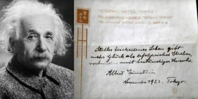 Bí mật ẩn giấu trong công thức hạnh phúc của thiên tài Albert Einstein được đấu giá 1,5 triệu USD