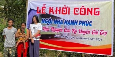 Hoa hậu Kỳ Duyên đem 100 triệu tiền thưởng từ chương trình Sao nhập ngũ về Quảng Nam xây nhà cho người nghèo